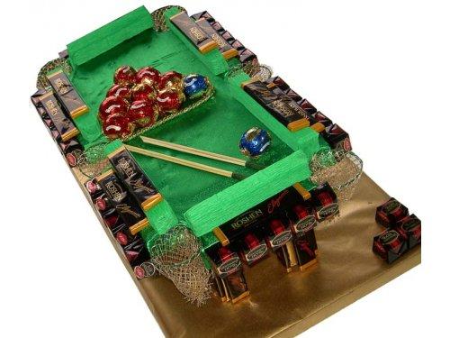 Бильярдный стол из конфет №410
