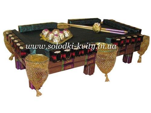 Бильярдный стол из конфет №036