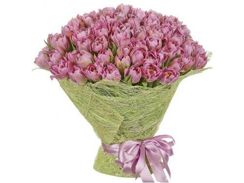 Букет пионовидных тюльпанов №195