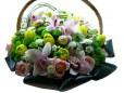 Корзина цветов №287
