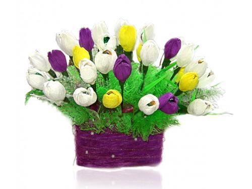 Корзина тюльпанов №415