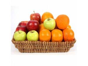 Корзина с апельсинами и яблоками №092