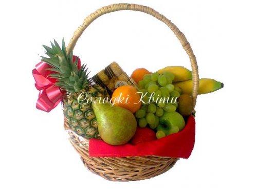 Корзина фруктов Хорошее настроение №030