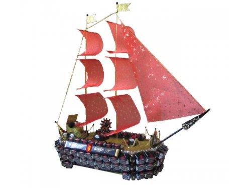 Корабль из конфет Алые паруса