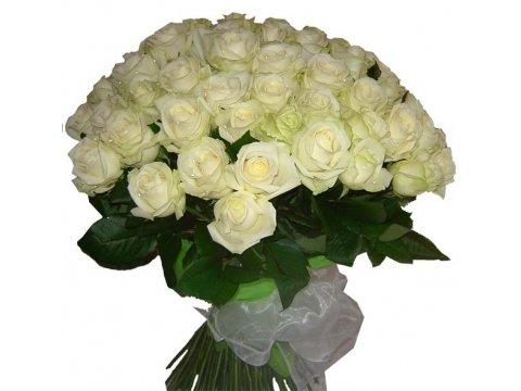 Букет белых роз №057