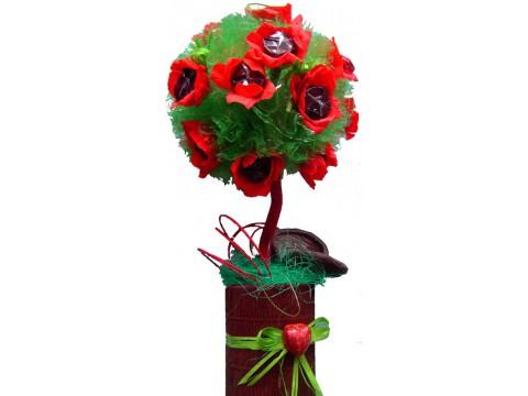 Маковое дерево из конфет №403