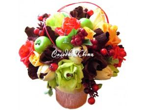 Букет из конфет для любимой бабушки