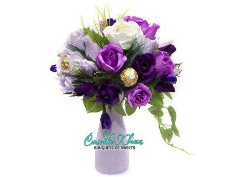 Букет конфет фиолетовый рай