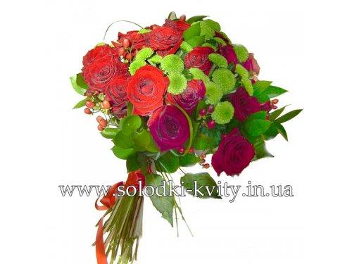 Букет с розами №181