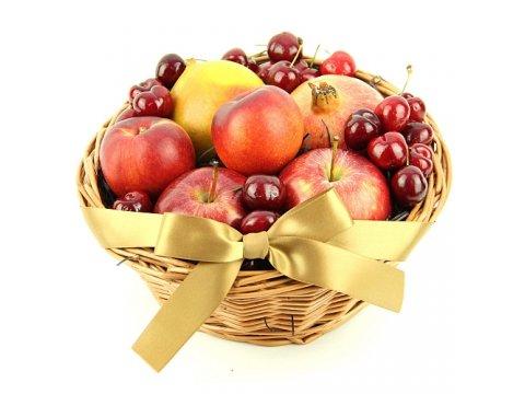 Корзина с черешнями и яблоками №325