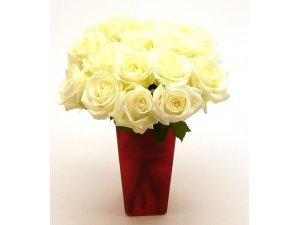 Букет белых роз №382